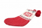 Preview: Casalanas Christmas sock, Navidad, 46x26 cm, 100% cotton, with loop for hanging up, item no. 1586