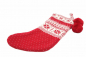 Preview: Casalanas Christmas sock, Kerstmis, 46x26 cm, 100% cotton, with loop for hanging up, item no. 1609
