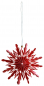 Preview: Casalanas Christmas tree decoration, red snowflake, 10x10 cm, red-white, item no. 3337