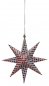 Preview: Casalanas Christmas tree decoration, red dotted star, 9,5x9,5 cm, red-white, item no. 3344