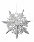 Mobile Preview: Casalanas window decoration, snowflake Ice Needle, Ø 33 cm, white, item no. 3412