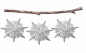 Preview: Casalanas window decoration, snowflake Ice Needle, Ø 33 cm, white, item no. 3412