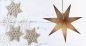 Mobile Preview: Casalanas illuminable window decoration, star Gold Polaris, Ø 60 cm, gold, item no. 3467