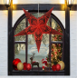 Preview: Casalanas illuminable window decoration, star Black Syrma, Ø 66 cm, black-red, item no. 3498