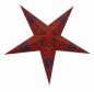 Mobile Preview: Casalanas illuminable window decoration, star Red Wega, Ø 66 cm, red, item no. 3504