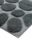 Preview: Casalanas  - Olbia , soft and antislip microfiber-bathmat, grey/silver