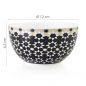 Preview: Images d'Orient mug with bowl in a set with gift box, Kaokab, 250 ml + Ø 12 cm, blue black white, item no. POR232032