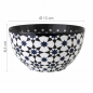 Preview: Images d'Orient bowl set with 2 bowls and gift box, Kaokab, Ø 15 cm, blue black white, item no. POR151002