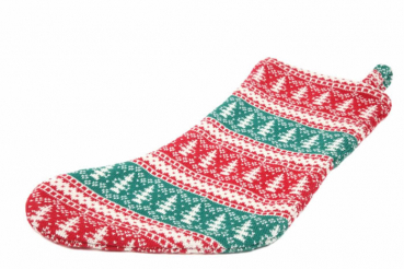 Casalanas Christmas sock, Xmas, 46x26 cm, 100% cotton, with loop for hanging up, item no. 1579