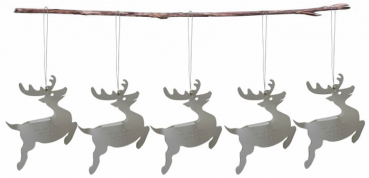 Casalanas Christmas tree decoration, reindeer, 14,7x10,5 cm, white, item no. 3306