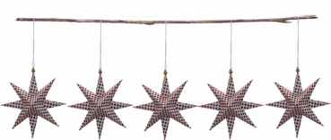 Casalanas Christmas tree decoration, red dotted star, 9,5x9,5 cm, red-white, item no. 3344