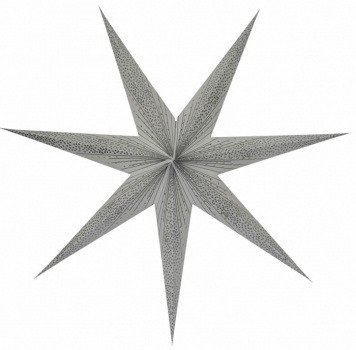 Casalanas illuminable window decoration, star Silver Elektra, Ø 80 cm, silver, item no. 3450