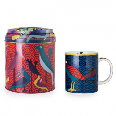 Images d'Orient Tasse mit Geschenkbox, Birds of Paradise, 250 ml, bunt, Art.-Nr. POR232051