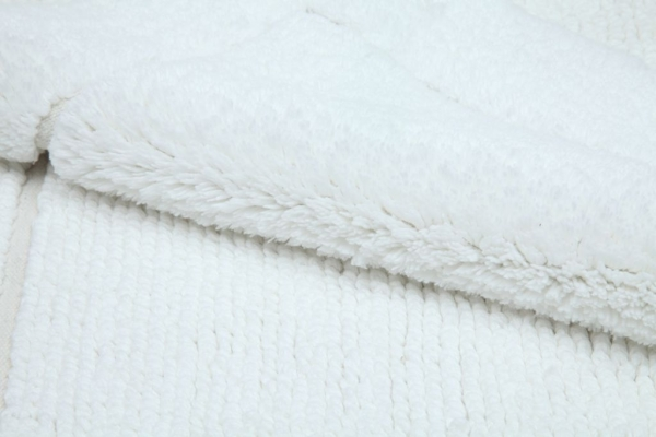 Casalanas - Santorin, double-sided, solid bathmat, white, different sizes