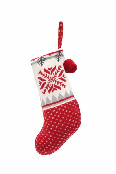 Casalanas Christmas sock, Navidad, 46x26 cm, 100% cotton, with loop for hanging up, item no. 1586