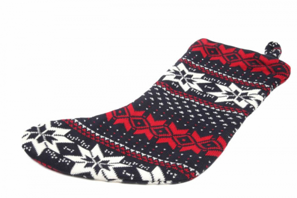 Casalanas Christmas sock, Natale, 46x26 cm, 100% cotton, with loop for hanging up, item no. 1593