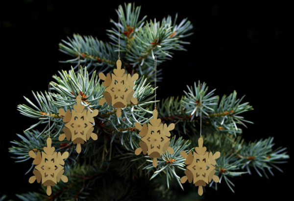 Casalanas Christmas tree decoration, golden snowflake, 14x14 cm, gold, item no. 3276