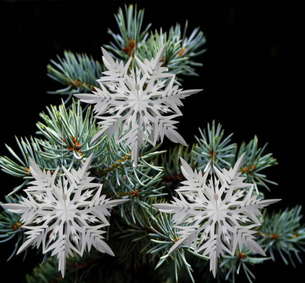 Casalanas window decoration, snowflake Ice Needle, Ø 33 cm, white, item no. 3412