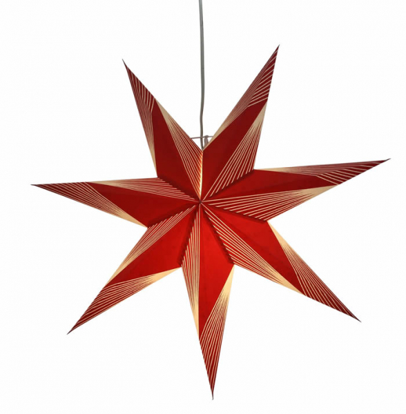 Casalanas illuminable window decoration, star Red Altair, Ø 60 cm, red, item no. 3429