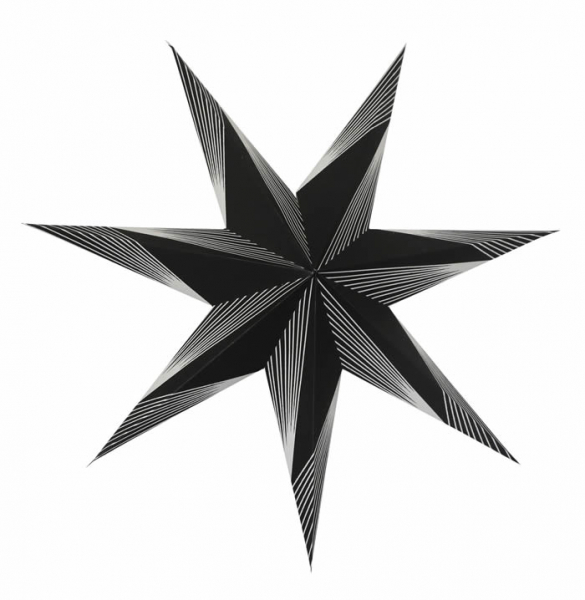 Casalanas illuminable window decoration, star Black Altair, Ø 60 cm, black, item no. 3436