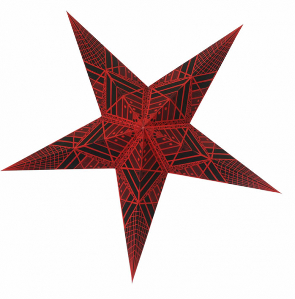 Casalanas illuminable window decoration, star Black Syrma, Ø 66 cm, black-red, item no. 3498