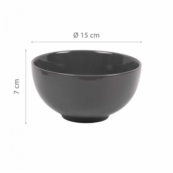 Casalanas 6 Schalen Set, Night & Day, Ø 15 cm, grau, Art.-Nr. 7234