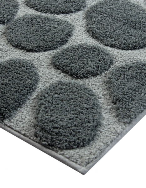 Casalanas  - Olbia , soft and antislip microfiber-bathmat, grey/silver