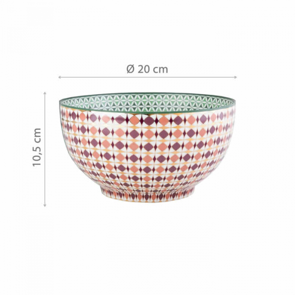 Images d'Orient bowl and gift box, Opera, Ø 20 cm, colourful, item no. POR200006