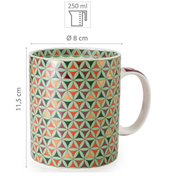 Images d'Orient mug with gift box, Opera, 250 ml, colourful, item no. POR232081