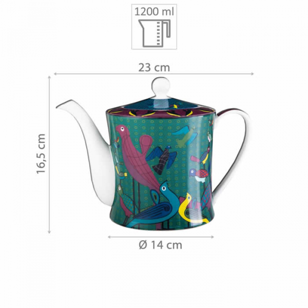 Images d'Orient Teekanne in Geschenkbox, Birds of Paradise, 1,2 Ltr., bunt, Art.-Nr. POR313121