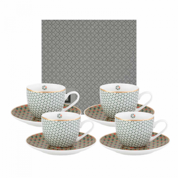 Images d'Orient espresso set with 4 mugs, saucers and gift box, Opera, 90 ml, colourful, item no. POR920074