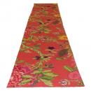 Casalanas table runner, Corallo, 180x35 cm, red, 100% cotton, handmade, item no. 5010