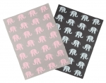 Casalanas Baby Blanket, 100% Cotton, 100 x 80 cm, Elephant Design, different colors
