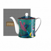 Images d'Orient teapot and gift box, Birds of Paradise, 1.2 ltr., colourful, item no. POR313121